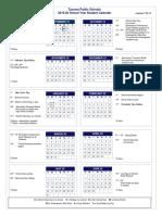 2019-20 Student Calendar