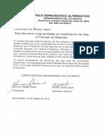 Polo denuncia irregularidades en modificación de lista al Concejo de Malambo
