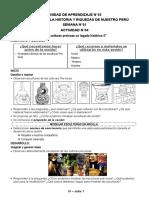 JULIO - EDUCACIÓN FÍSICA Y ARTE 4to de primaria
