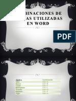 Conbinaciones de Teclas Utilizadas en Word