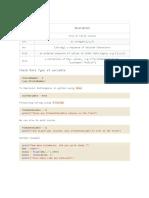 Python DataType