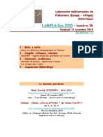 LAMPEA-Doc 2010 - numéro 36 / Vendredi 12 novembre 2010