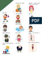 Adjetivos en Ingles y Español