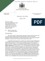 Merola v Cuomo, et al, 19-cv-00899 NDNY -  State Letter Motion for Stay