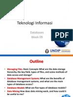 Teknologi Informasi - W09 - Databases 1