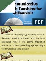 Communicative Language Teaching for Millennials