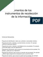 Tipos de preguntas para los instrumentos de recoleccion de informacion