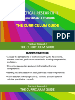 1. Practical Research II the Curriculum Guide