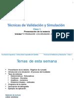 Clase 1 - Intrroducción a La Simulación Numérica