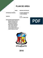 Plan de Area Ciencias Naturales 2018 Actualizada Noviembre