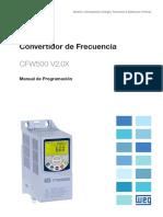 WEG CFW500 Manual de Programacion 10002296096 Es