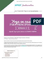 Yoga en Casa Semana 3 Aprende Yoga en Pocas Semanas