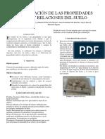 Cálculo de propiedades índices de un suelo