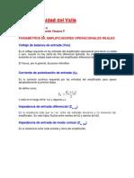 Parametros Tícos de AOs y Realimentación Negativa