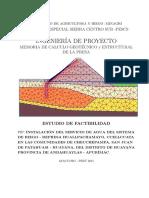MC Diseño Geotecnico y Estructural -Presa Huallpachamayo