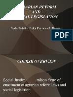 Agri Reform and Social Leg