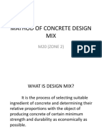 Design mix method