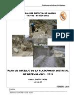 Plan de Trabajo Pdc Grd Madean 2019