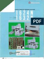 Okamoto Precision Surface Grinding Machine 1624n 1632n Brochure