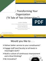LEAN Transforming Your Organization NCCI Workshop July 2013