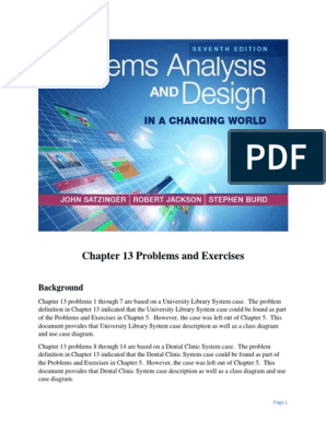 System Analysis Design In A Changing World Chapter 13 Problems And Exercises Dentist Books