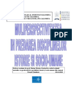 Multiperspectivitate in Predarea Istoriei Cerc Metodic 10.11.2010