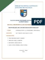 Monografia de Procesos Industriales