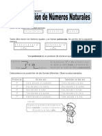 Potenciación de Números Naturales Para Quinto de Primaria (1)