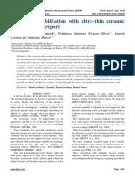Aesthetic rehabilitation with ultra-thin ceramic veneers - Case report