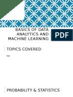 01 Basics of Data Analytics and Machine Learning
