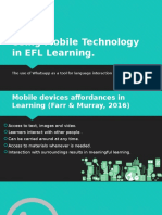 Using Mobile Technology in EFL Learning