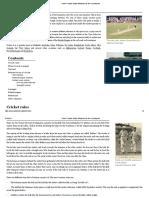 Cricket - Simple English Wikipedia, The Free Encyclopedia