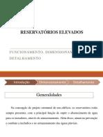 RESERVATÓRIOS ELEVADOS