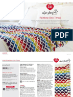 Crochet Pattern - Rainbow Chic Throw