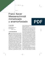 Messerschmidt, Mimetizado y Anamorfoseado