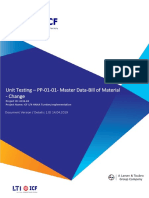S4HANA UT PP 01 02 Master Data Change Bill of Material V1.0