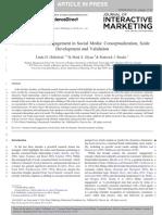 Consumer Brand Engagement in Social Media - Hollebeek Glynn Brodie 2014