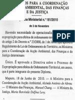 DpM_2010_n181_aprova Directiva Expropriação Lei Terras