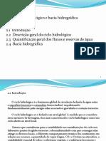Cap. 2 Ciclo Hidrológico e Bacia Hidrográfica