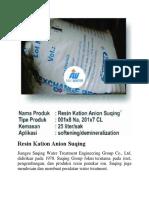 0813 2259 9149 Jual Resin Anion Di Kupang Distributor Resin Anion Amberlite Ady Water