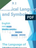 Chapter 2 Mathematical Language and Symbols