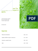 2015 10 20 Trends in the Indirect Tax landscape and the impact of BEPS