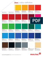 Macal8900pro Gloss Colour Card - Validated