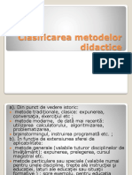 Clasificarea Metodelor Didactice