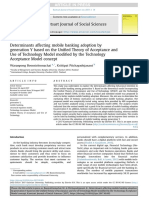 Determinants Affecting Mobile Banking Adoption Bygeneration Y Based on the Unified Theory of Acceptance AndUse of Technology Model Modified by the TechnologyAcceptance Model Concept