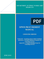 DPWH Procurement Manual - Volume III