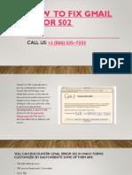 How to Fix Gmail Error 502   Gmailinformation