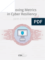 Improving Metrics in Cyber Resiliency