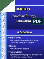 Ch. 24 NUCLEAR ENERGY Radioactivity_pres