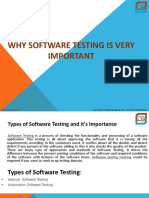 Types of Software Testing and It's Importance